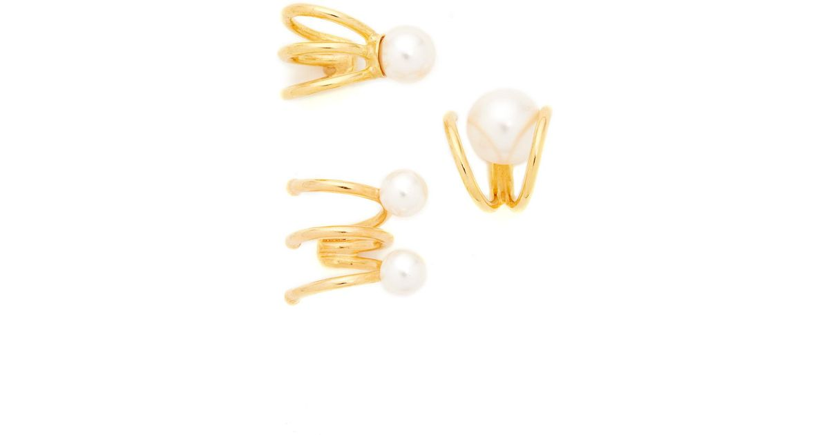 Joanna Laura Constantine Statement Nail Pearl Ear-Cuff mc5Ws