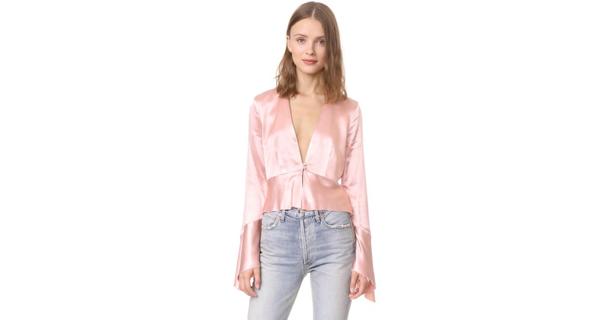 b7f69c4b6bb7c4 Lyst - Bec   Bridge Decadent Long Sleeve Top in Pink