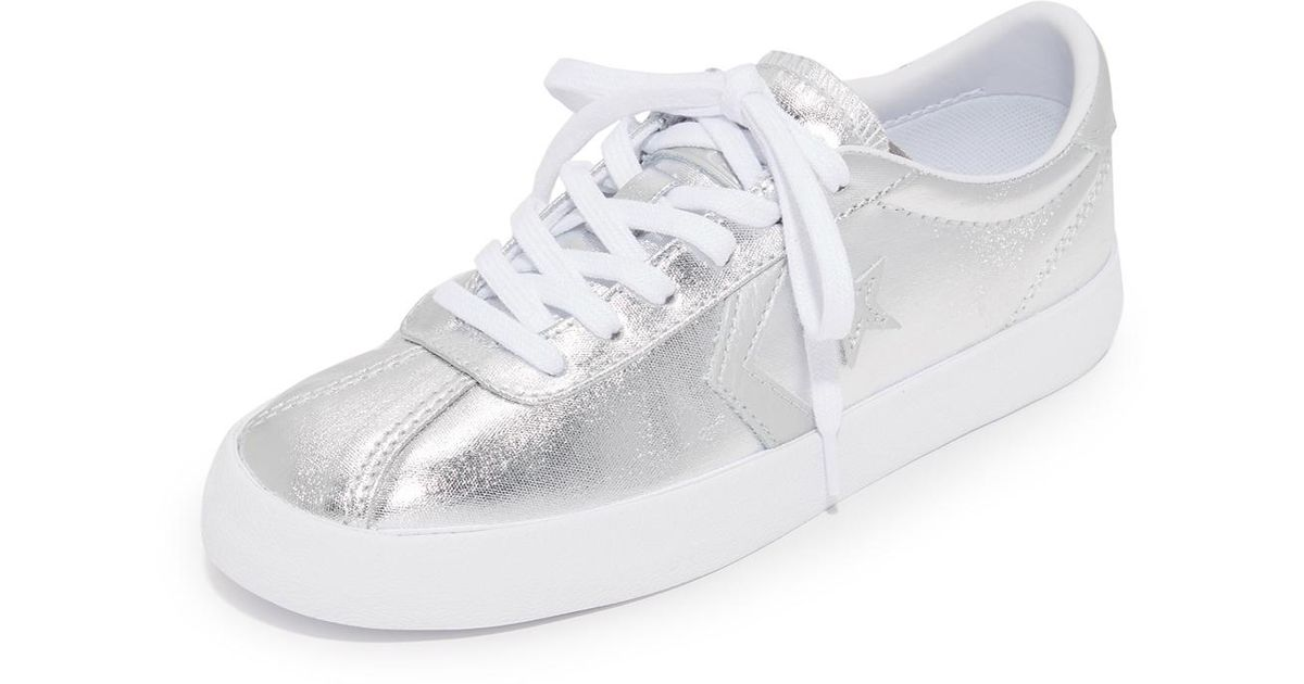 18d85d0a78794 Converse Breakpoint Ox Metallic Sneakers in White - Lyst