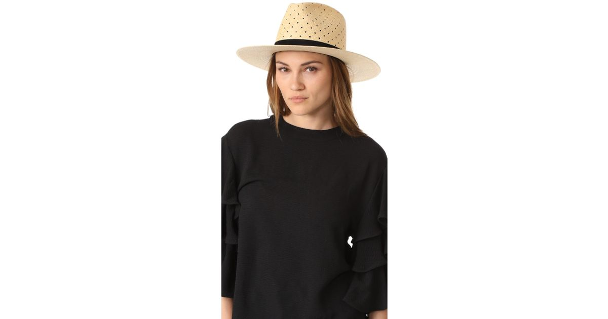 06b8a7d6e Janessa Leone - Natural Claire Tall Crown Panama Hat - Lyst