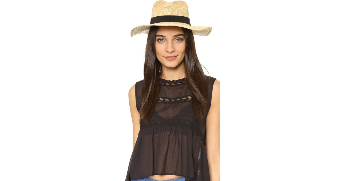 Lyst - Madewell Packable Straw Hat in Black dacccb27a5be