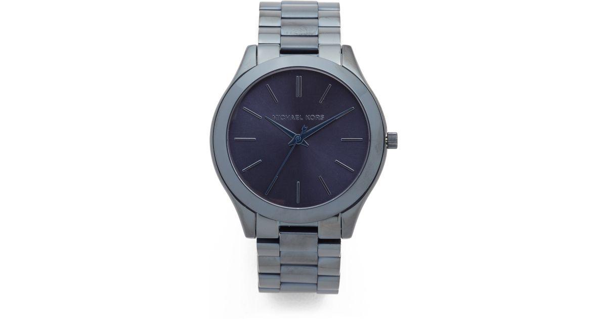 3769f905daac Lyst - Michael Kors Slim Runway Watch in Gray