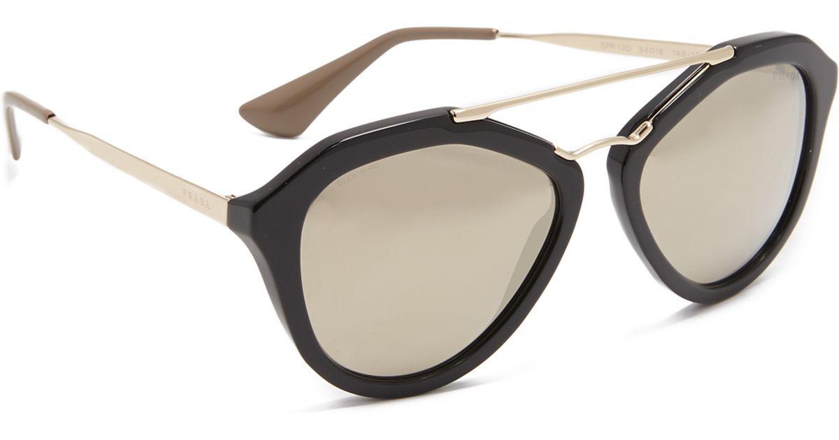 733d05f4cb57 Black Prada Aviator Sunglasses