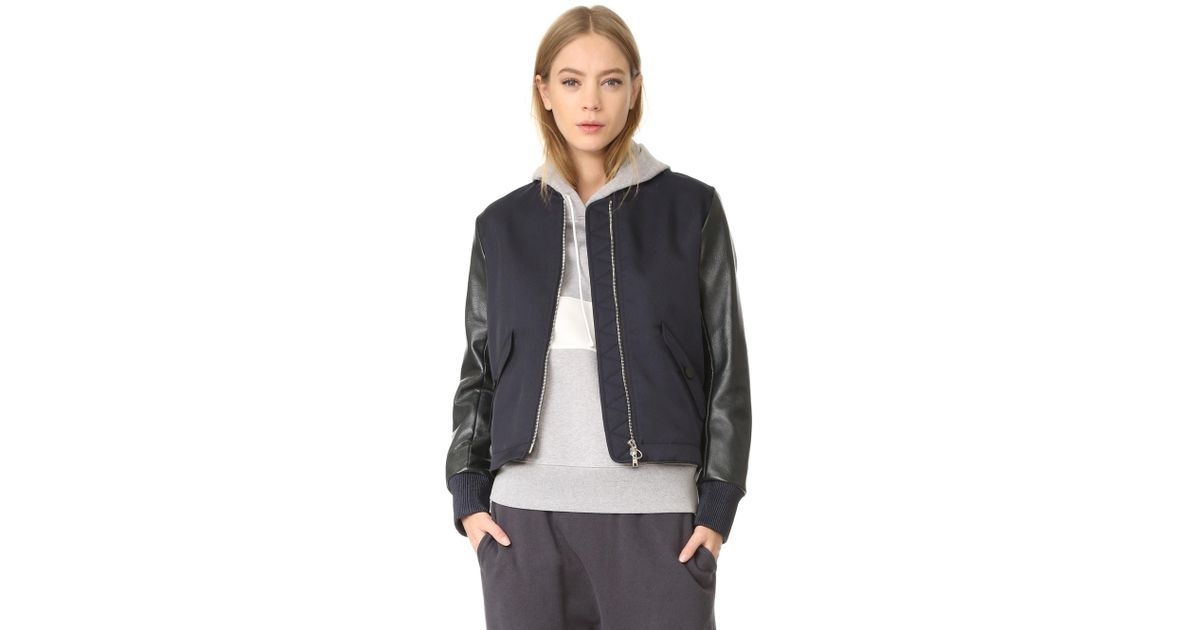 93f41394b Tim Coppens - Blue Ma 1 Laced Bomber Jacket - Lyst