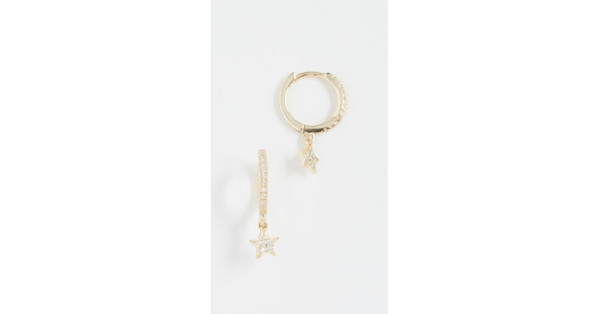 Shashi Star Pave Hoop Earrings y0srlqMe5M