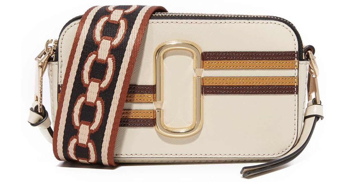 7a57fb1cfb71 Lyst - Marc Jacobs Stripe Snapshot Camera Bag