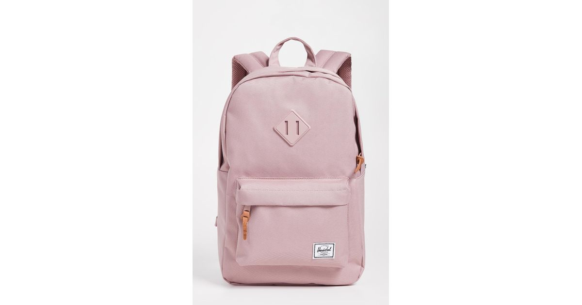 b1f7fa74502 Herschel Supply Co. Heritage Mid Volume Backpack in Pink - Lyst