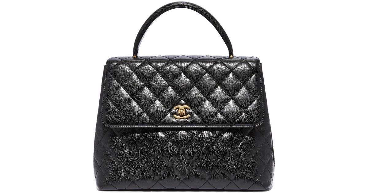 6405750aa126 What Goes Around Comes Around Chanel Kelly Satchel (previously Owned) in  Black - Lyst