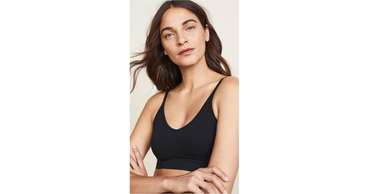 c9fa2df35579a8 Lyst - Spanx Laidback Layers Seamless Bralette in Black - Save  36.8421052631579%