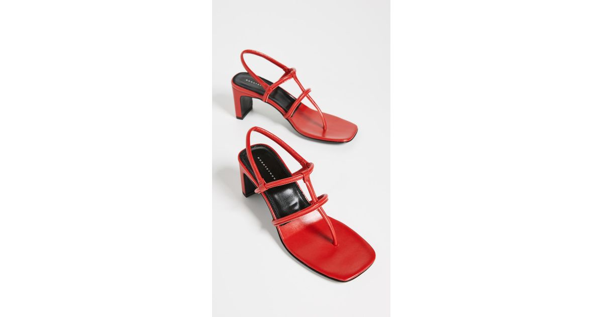 23042dc63 Dorateymur Red 65 Thong Leather Sandals in Red - Save 30% - Lyst