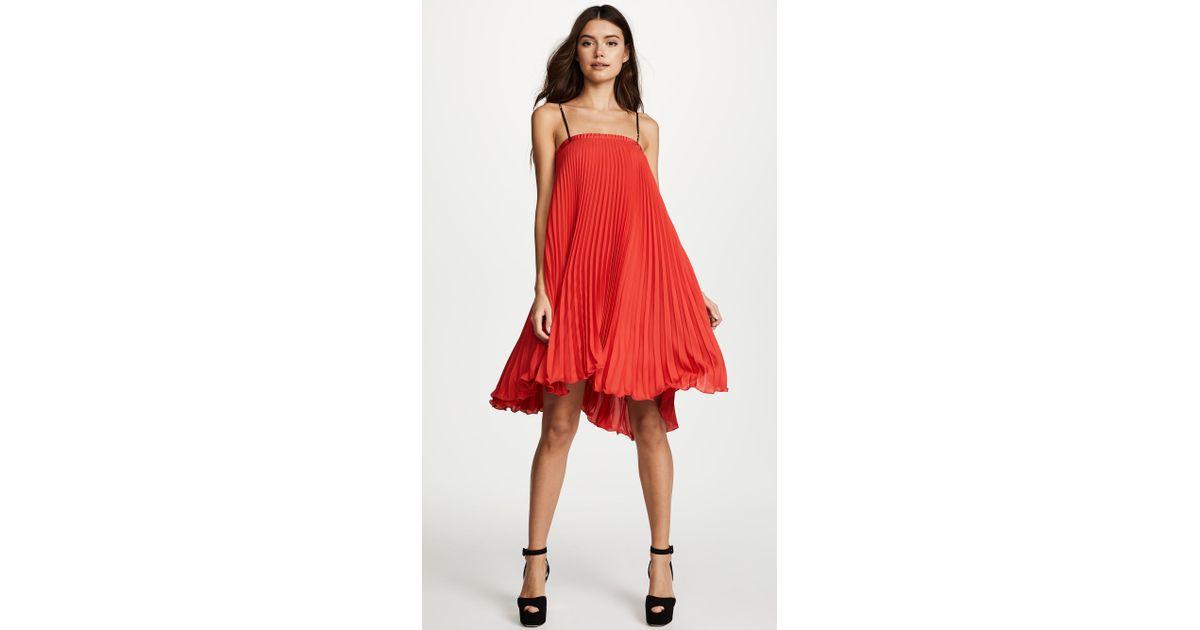 90f6407b41 Loyd Ford Pleated Mini Dress in Red - Lyst