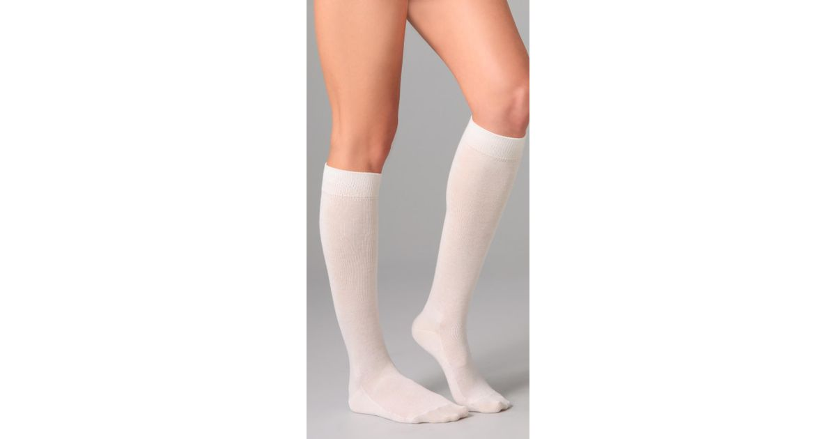 88632047dcd Falke Family Knee High Socks in White - Lyst