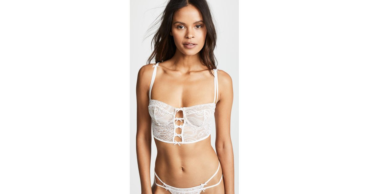 b0e778bdd23bd Lyst - For Love   Lemons Sophie Corset Bra in White