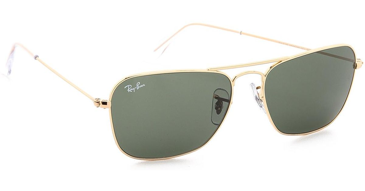 dc52805e25a Lyst - Ray-Ban Caravan Sunglasses in Green