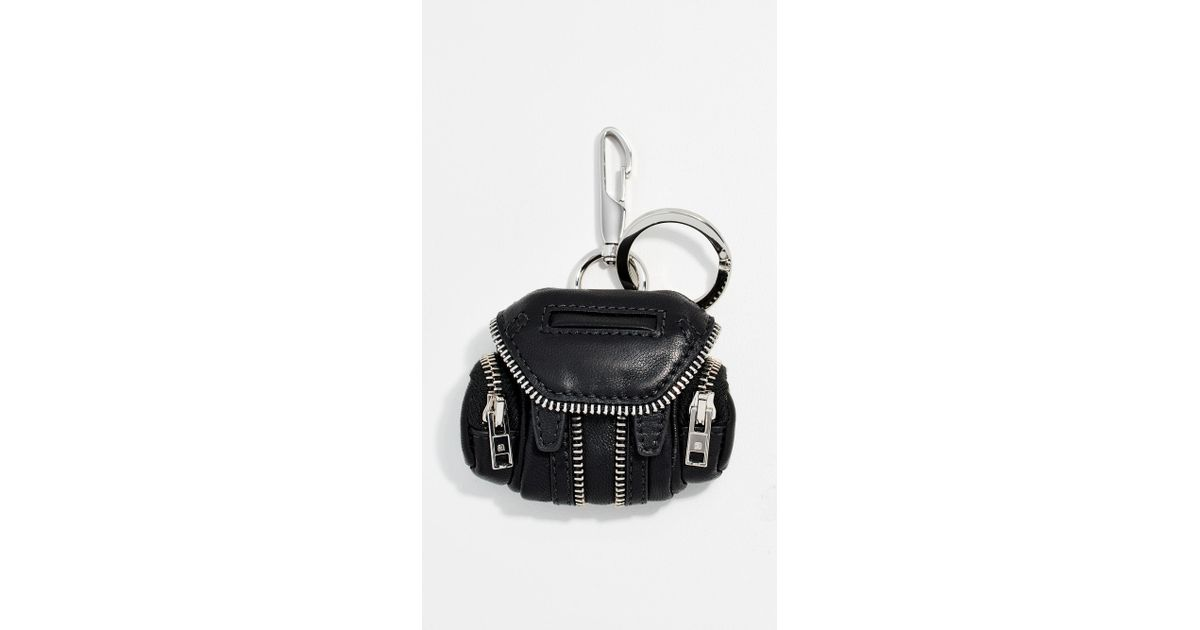 Lyst - Alexander Wang Marti Backpack Keychain in Black 670a9cea4b