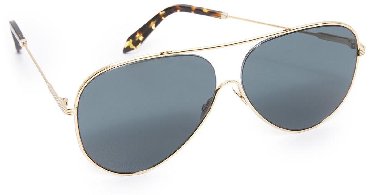 132f2c68225 Lyst - Victoria Beckham Loop Aviator Sunglasses