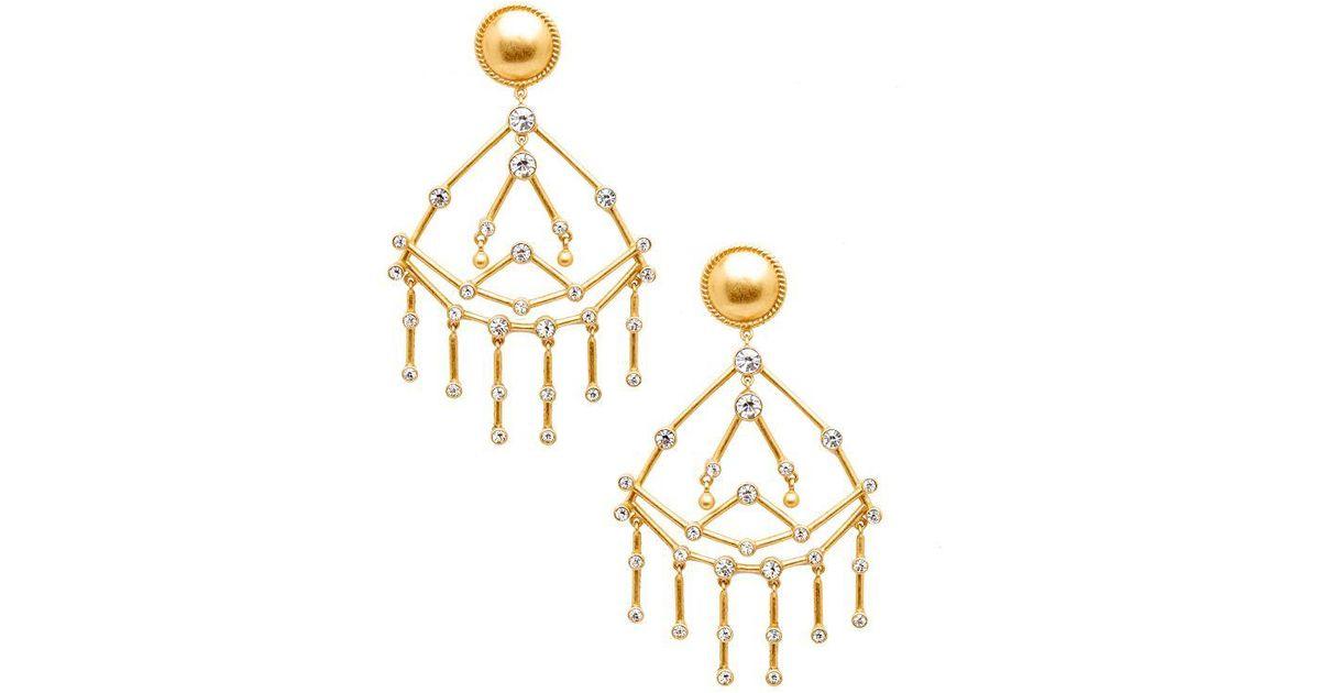 Rachel Zoe Makayla Constellation Chandelier Earrings Gold ue7WRmM4