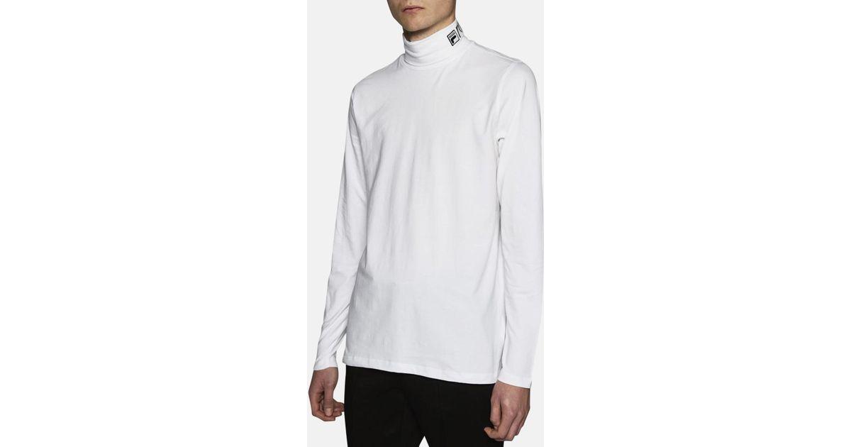 Gosha Rubchinskiy Fila Roll Neck T Shirt In White For Men