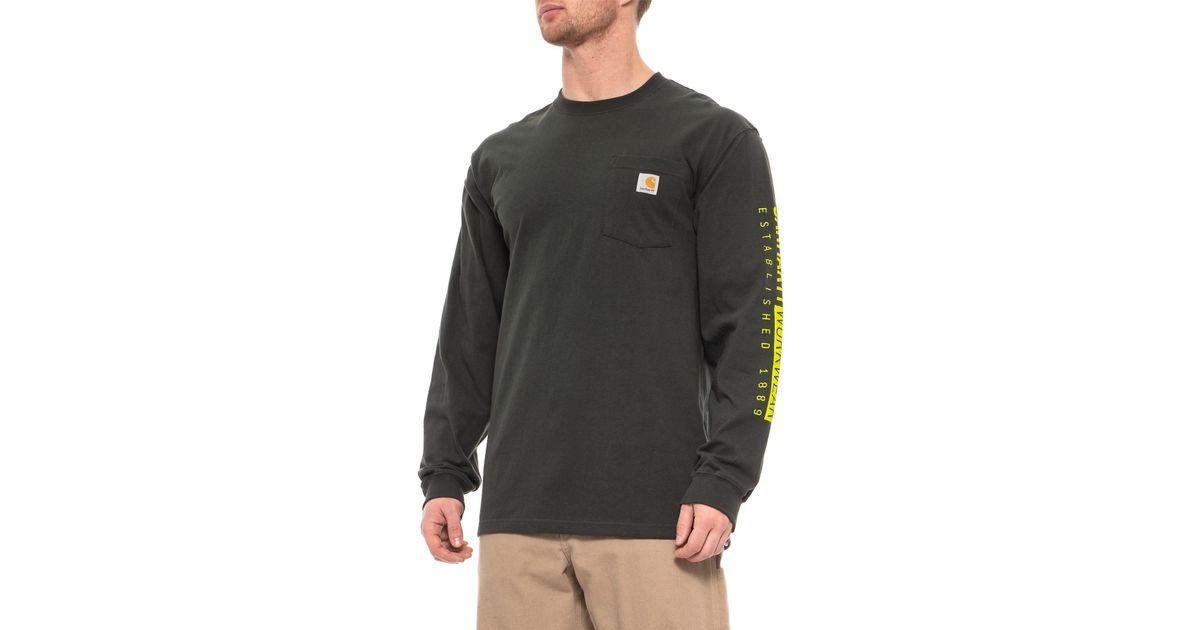 7c0670226 Carhartt Workwear Est. 1889 T-shirt for Men - Lyst