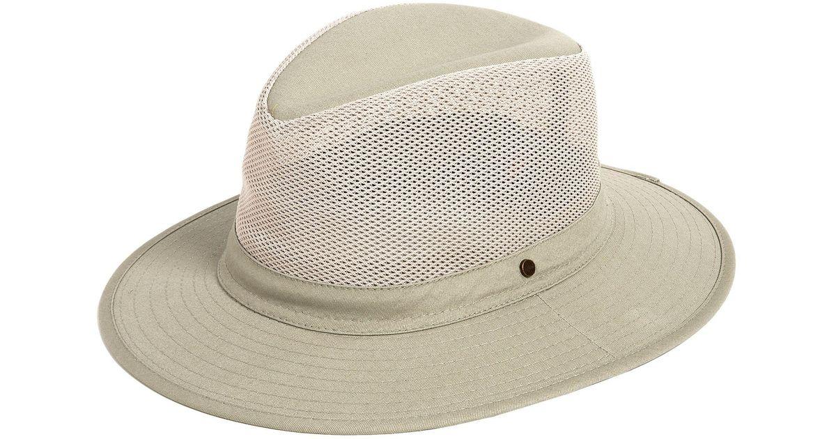 19913cfd4 Dorfman Pacific - Natural Safari Hat for Men - Lyst