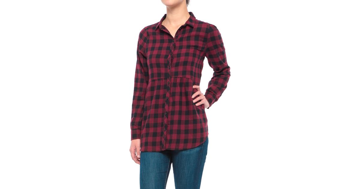 62e1e094ad Beach Lunch Lounge Sandie Flannel Shirt in Red - Lyst