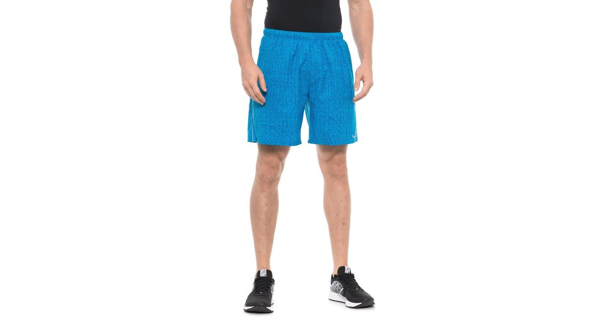 233f25189d Saucony - Blue Sprint Woven Running Shorts for Men - Lyst