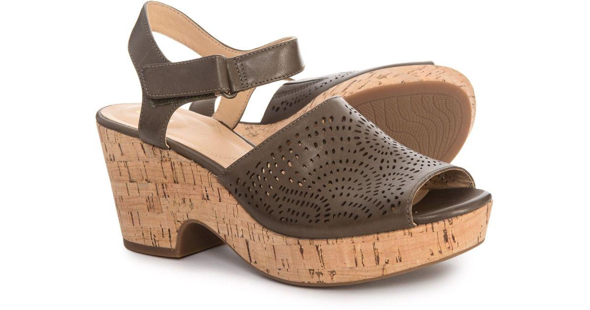 2d9ba07eb Lyst - Clarks Maritsa Nila Wedge Sandals