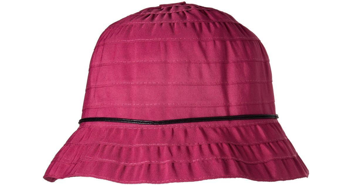 46c485da4 Dorfman Pacific - Purple Packable Ribbon Bucket Hat (for Women) - Lyst