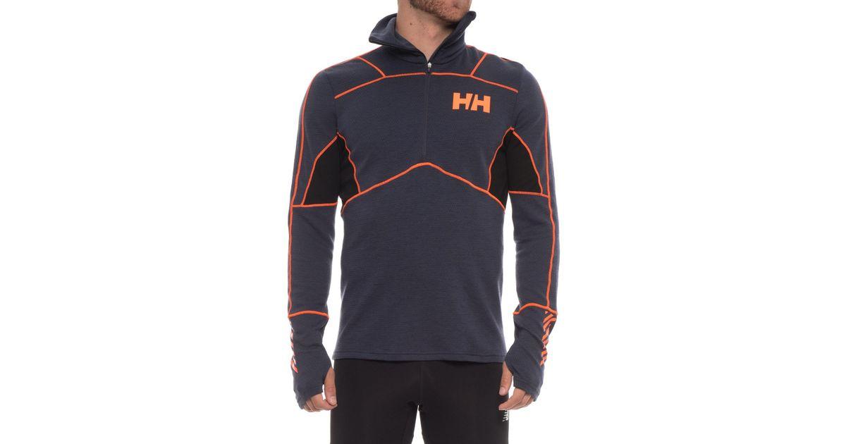 b774bdebcbe Helly Hansen Lifa® Merino Hybrid Base Layer Top in Blue for Men - Lyst