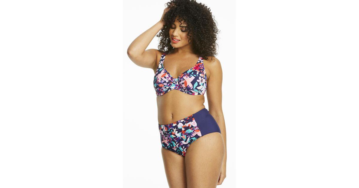 2bbc705fbdd81 Lyst - Simply Be Magisculpt Bodysculpting Bikini Top in Blue