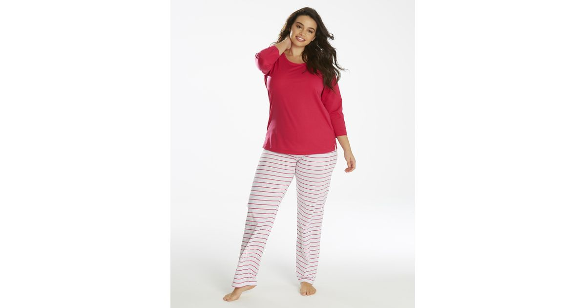 99ec81f1f3ec Lyst - Simply Be Pretty Secrets 3 4 Sleeve Pyjama Set