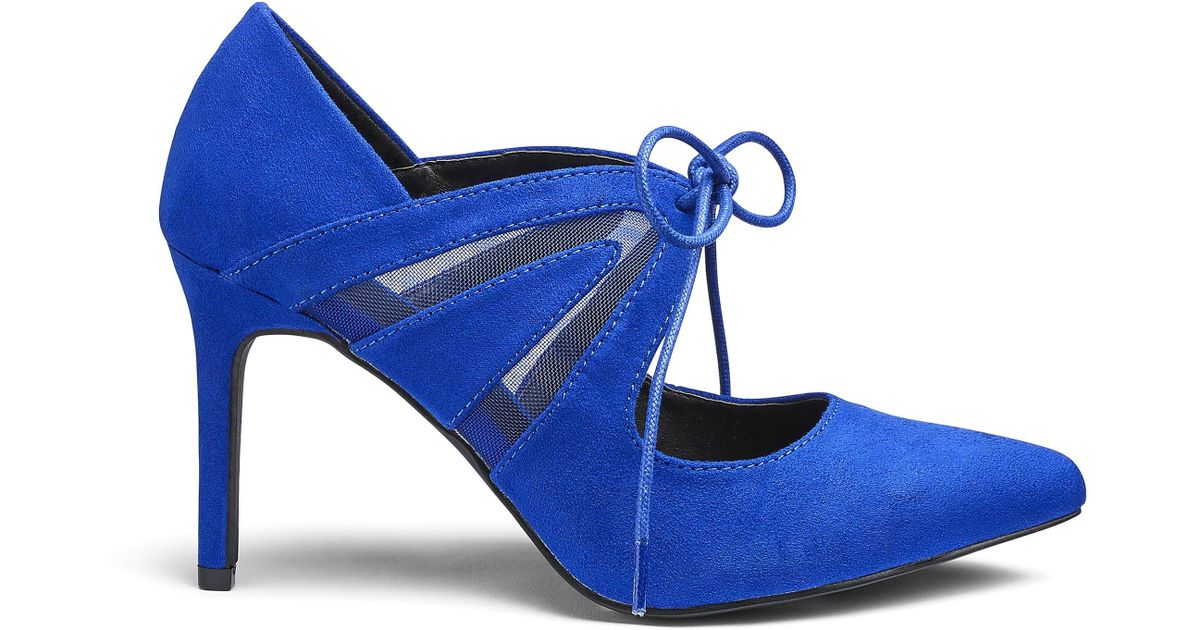 f93d33f7451d Lyst - Simply Be Sole Diva Tara Tie Point Shoes Extra Wide Eee Fit in Blue