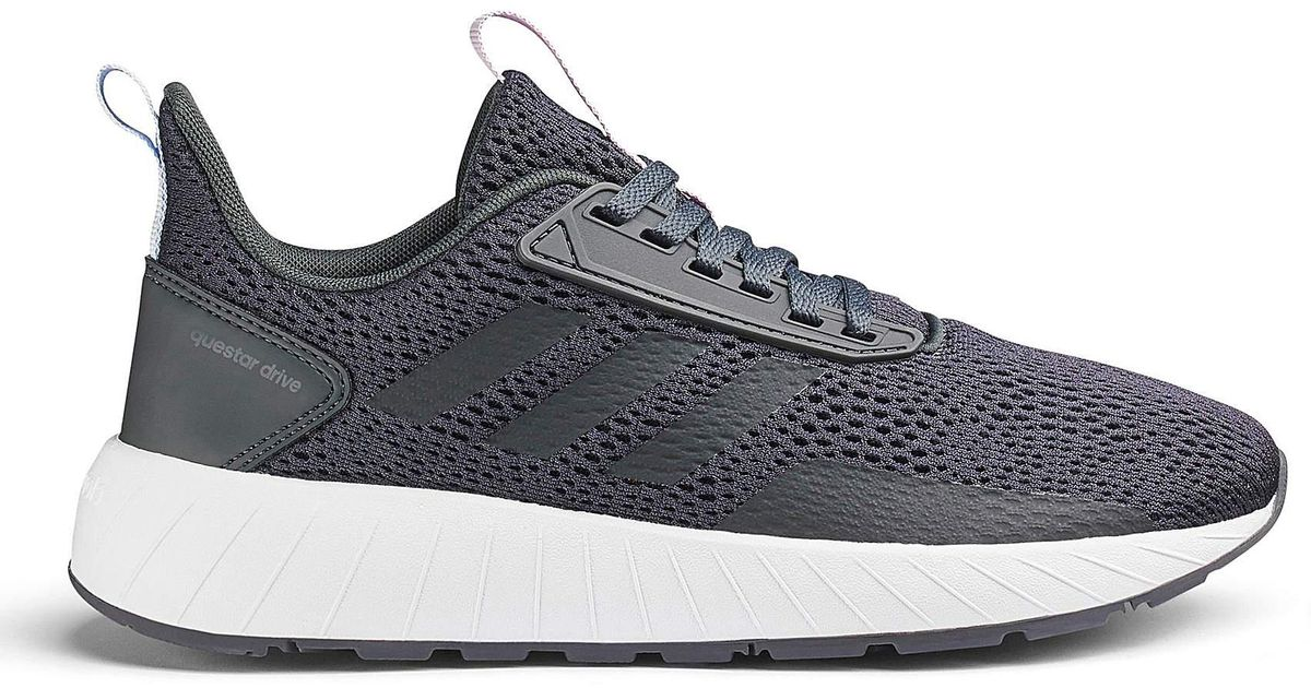 1efa423839fa Adidas Questar Drive Trainers in Gray for Men - Lyst