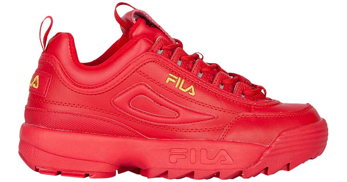 Lyst Fila Disruptor Ii Premium In Red