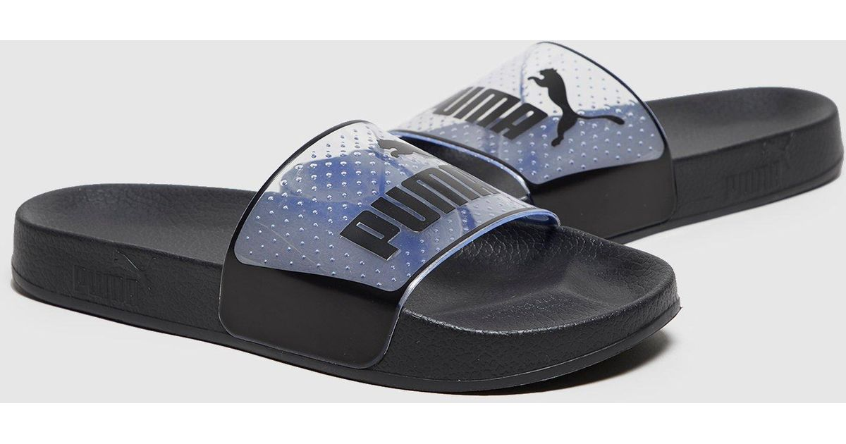 lyst puma leadcat jelly slides women s in black