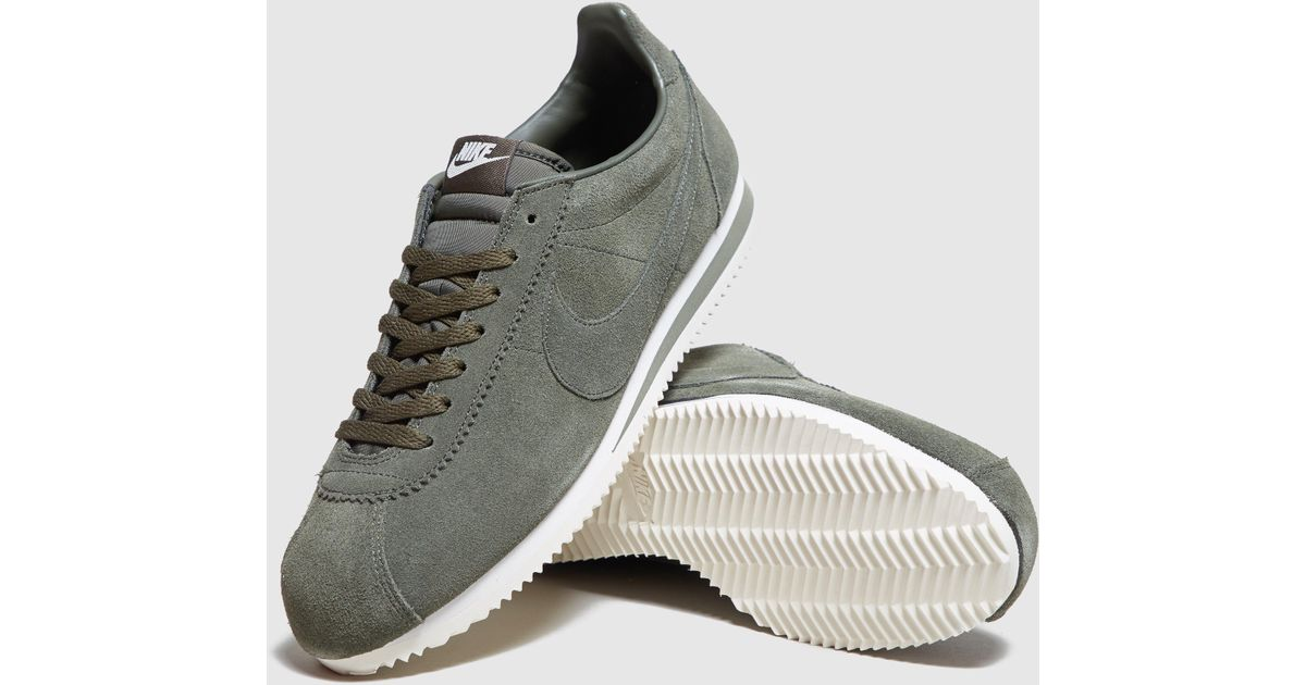 Lyst - Nike Cortez Suede in Green for Men 88d3a6240