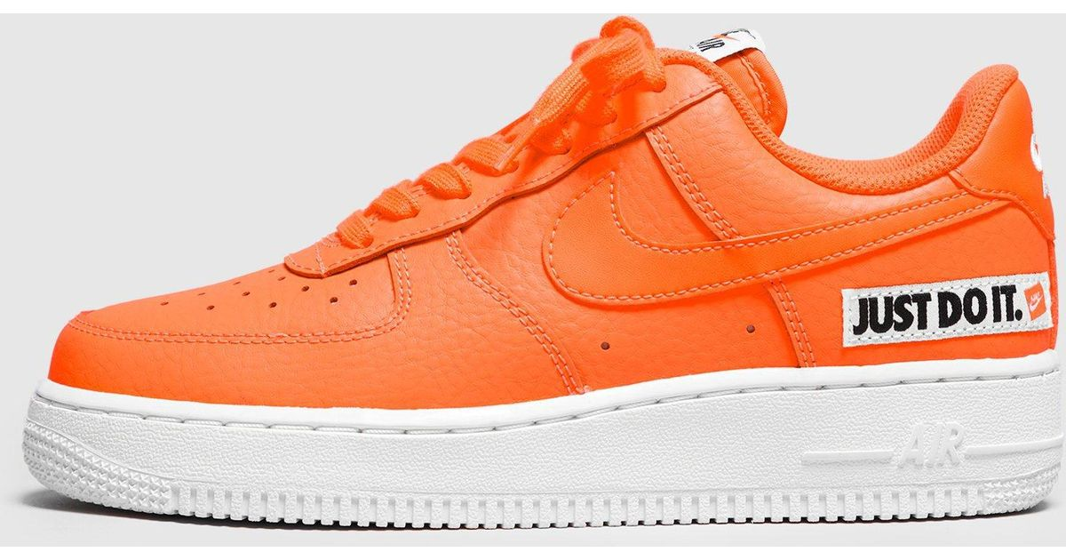 Nike Air Force 1  just Do It  Women s in Orange - Lyst 89a5c5213