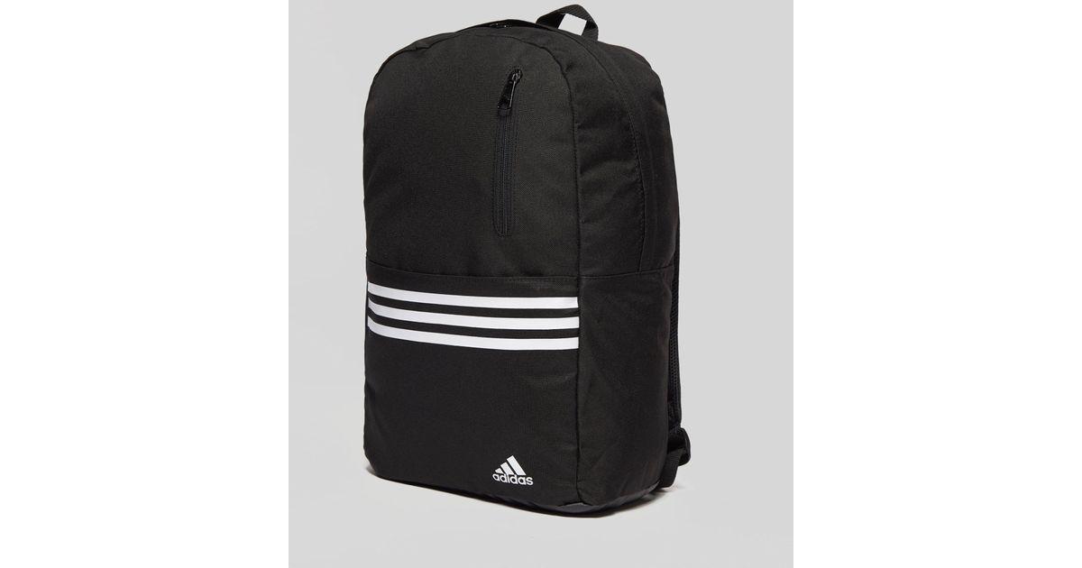 ff6ef78ee2a9 Lyst - adidas Versatile 3-stripes Backpack in Black