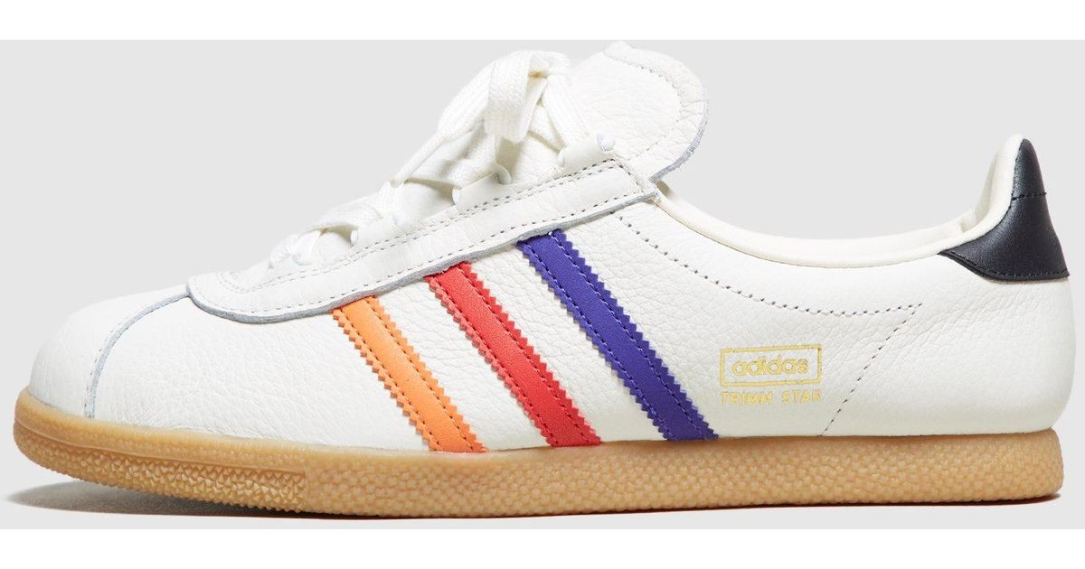 Lyst - adidas Originals Trimm Star  vhs  - Size  Exclusive Women s in White 999069a40