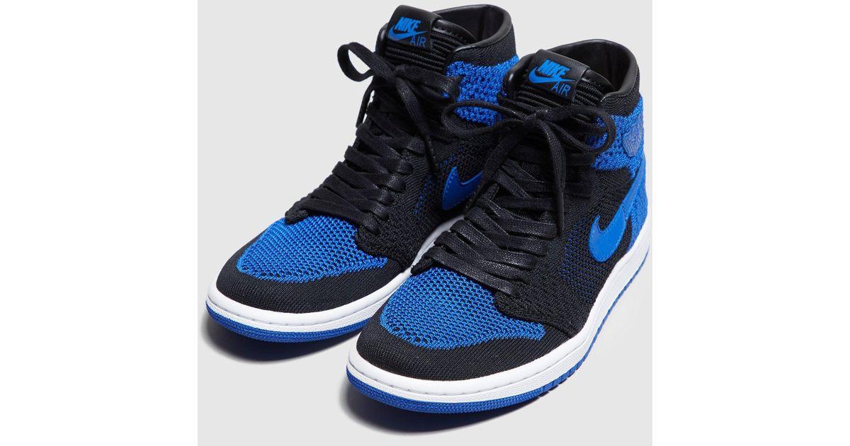 24b6af2d0e41 Lyst - Nike Air Jordan 1 Hi Flyknit Women s in Blue