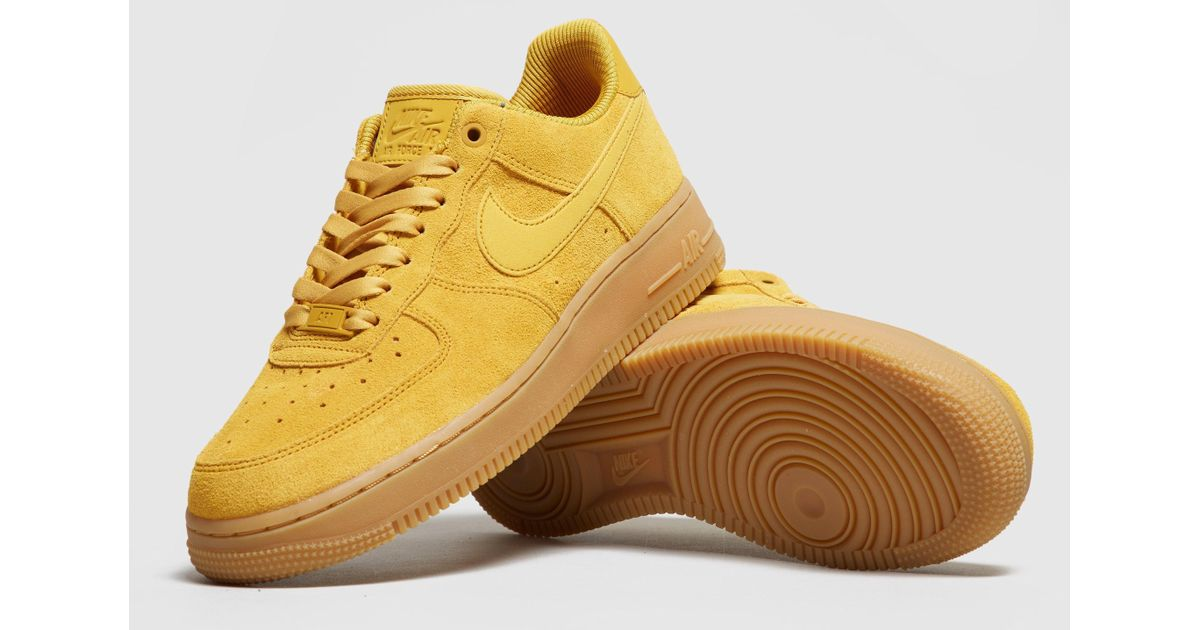 Lyst - Nike Air Force 1 Women s in Yellow 472a5914c