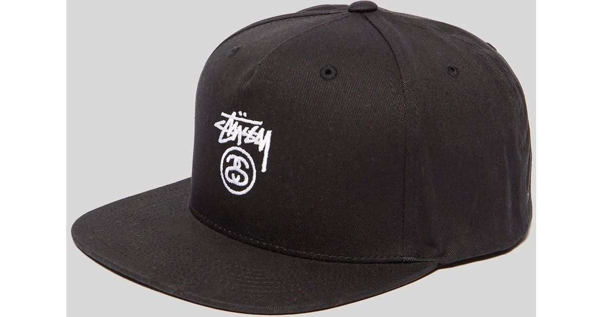 e3375a5a13b Lyst - Stussy Classic Logo Snapback Cap in Black for Men