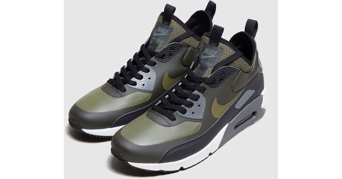 9c91aa6dbe6 ... clearance lyst nike air max 90 ultra mid winter in green for men d5665  dc84c
