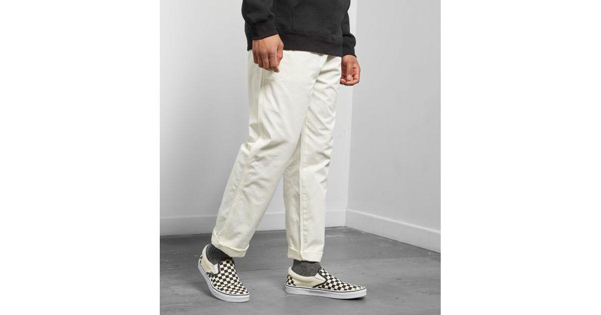4bafe683baf Stussy Brushed Beach Pant in White for Men - Lyst