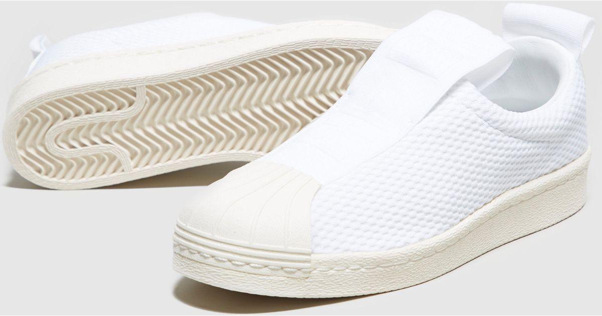 8133e8ffe9ac Lyst - adidas Originals Superstar Bw35 Slip-on Women s in White