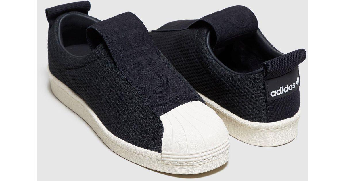 c2989c6334bb50 Lyst - adidas Originals Superstar Bw35 Slip-on Women s in Black