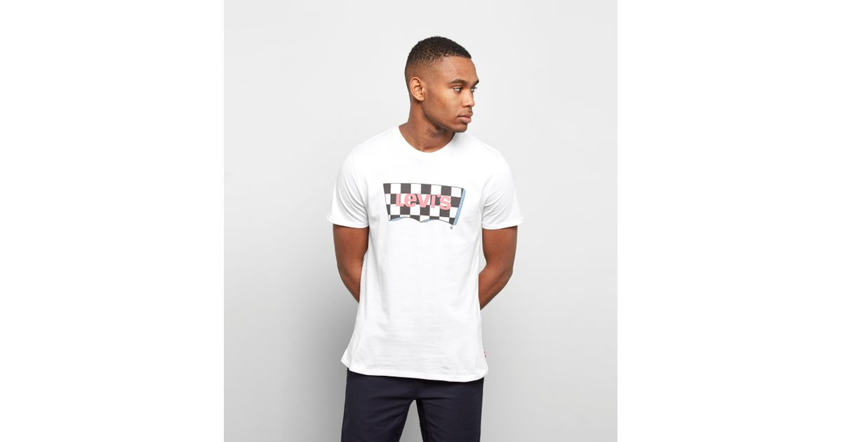 94ba40a46 Levi s Levis Checker Batwing T-shirt in White for Men - Lyst