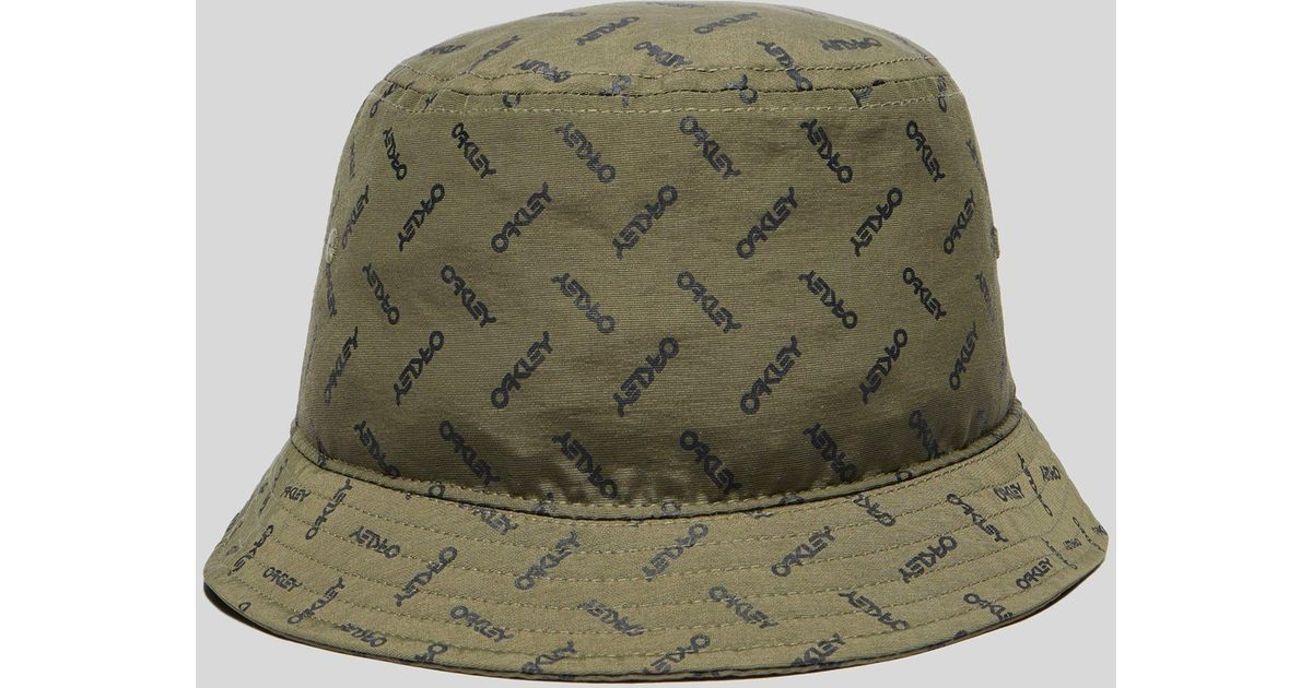 58b5f06d9d6 ... australia oakley logo bucket hat in green for men lyst 67aff 1652d