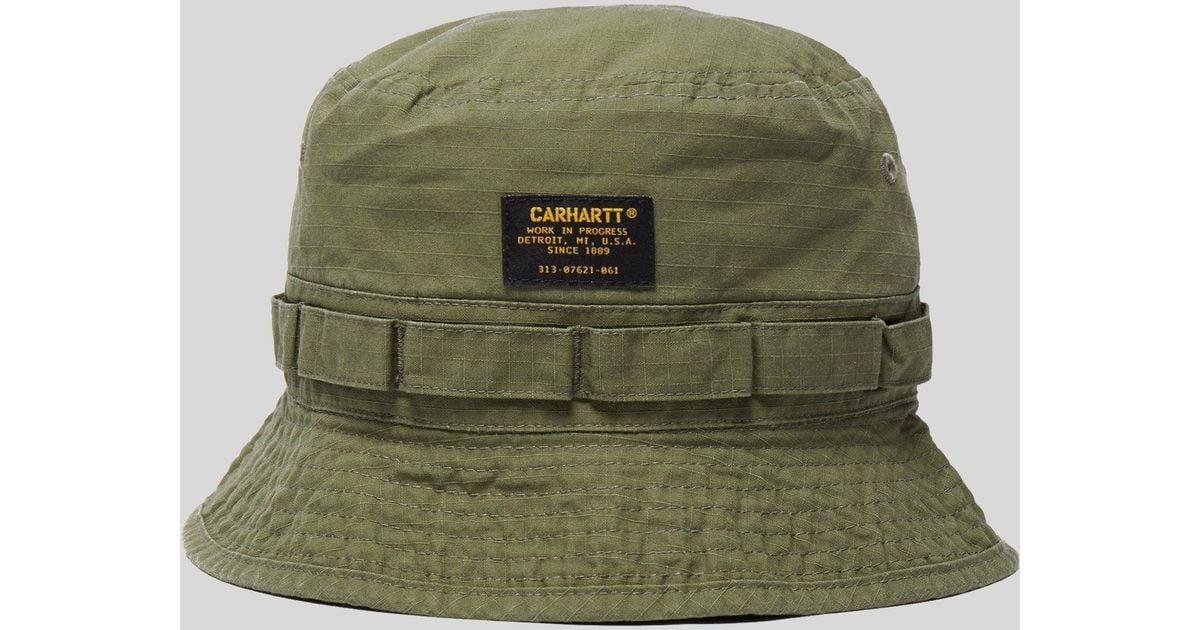 Lyst - Carhartt WIP Military Bucket Hat in Green for Men a8c416eddc7