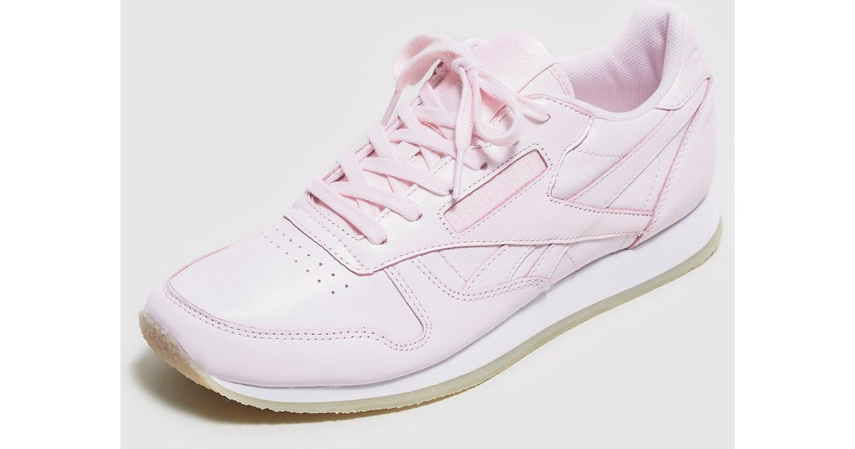 17d892673186c Lyst - Reebok Classic Leather Crepe Women s in Pink